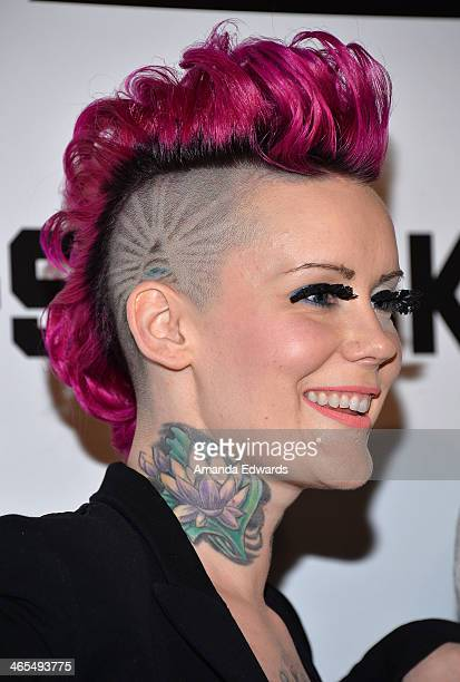 Recording artist Winter Rae of the band Fly Panda arrive at the Republic Records Post GRAMMY Party at 1 OAK on January 26 2014 in West Hollywood...