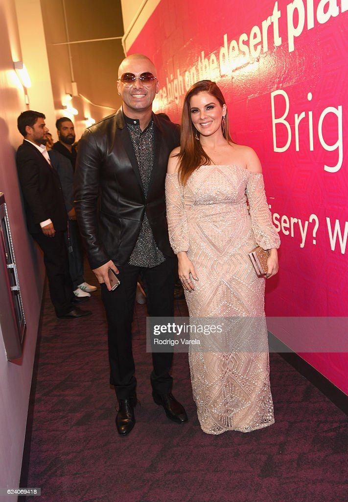 Recording artist Wisin (L) and Yomaira Orti attend The 17th Annual Latin Grammy Awards at T-Mobile Arena on November 17, 2016 in Las Vegas, Nevada.