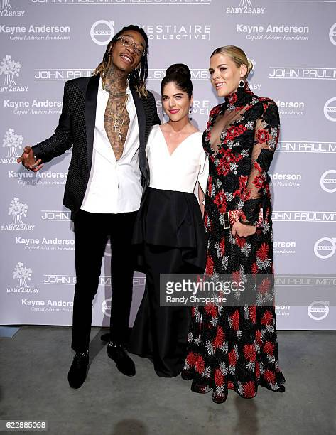Recording artist Wiz Khalifa and actors Selma Blair and Busy Philipps attend the Fifth Annual Baby2Baby Gala Presented By John Paul Mitchell Systems...