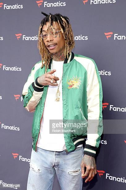 Recording artist Wiz Khalifa attends Fanatics Super Bowl Party on February 6 2016 in San Francisco California