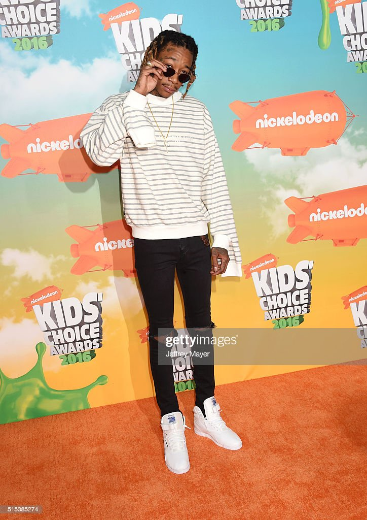 Recording artist Wiz Khalifa attends Nickelodeon's 2016 Kids' Choice Awards at The Forum on March 12, 2016 in Inglewood, California.