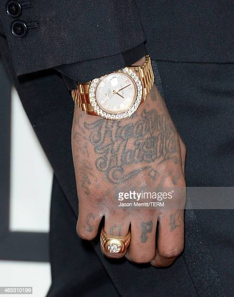 Recording artist Wiz Khalifa attends the 56th GRAMMY Awards at Staples Center on January 26 2014 in Los Angeles California