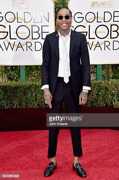 Recording artist Wiz Khalifa attends the 73rd Annual Golden Globe Awards held at the Beverly Hilton Hotel on January 10 2016 in Beverly Hills...