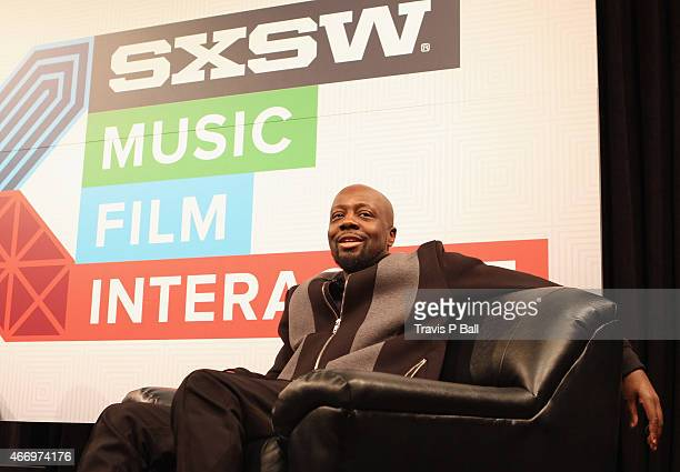Recording artist Wyclef Jean attends 'SXSW Interview Wyclef Jean' during the 2015 SXSW Music Film Interactive Festival at Austin Convention Center on...