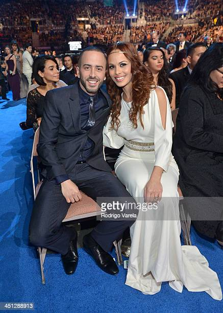Recording artist Yandel and Edneris Espada Figueroa attend The 14th Annual Latin GRAMMY Awards at the Mandalay Bay Events Center on November 21 2013...
