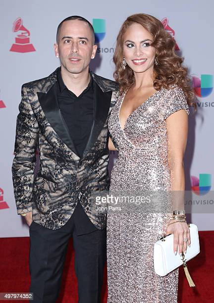 Recording artist Yandel and Edneris Espada Figueroa attend the 16th Latin GRAMMY Awards at the MGM Grand Garden Arena on November 19 2015 in Las...