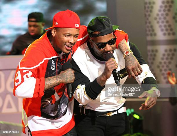 Recording artist YG and Jeezy perform during 106 Park at BET studio on March 24 2014 in New York City