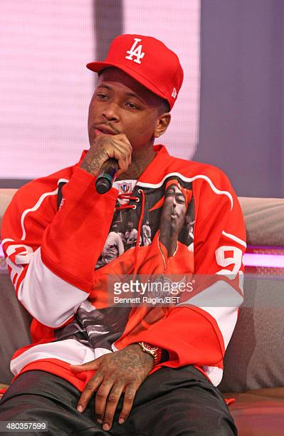 Recording artist YG visits 106 Park at BET studio on March 24 2014 in New York City
