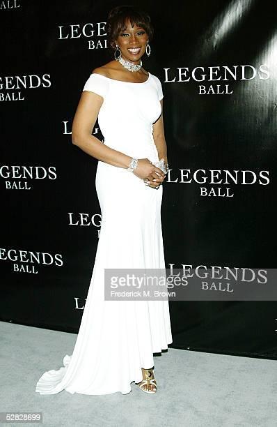 Recording artist Yolanda Adams attends Oprah Winfrey's Legends Ball at the Bacara Resort and Spa on May 14 2005 in Santa Barbara California