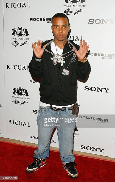Recording artist Young Berg arrives to Zomba Label Group's PreBET Awards Party featuring Ciara held at Ritual Nightclub on June 25 2007 in Hollywood...