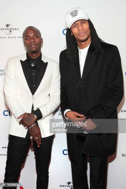 Recording artist Young Paris and Laurent Bourgeois attend the Universal Music Group's 2018 After Party to celebrate the Grammy Awards presented by...
