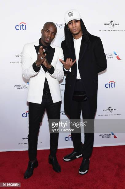 Recording artist Young Paris and Laurent Bourgeois attend the Universal Music Group's 2018 After Party for the Grammy Awards presented by American...