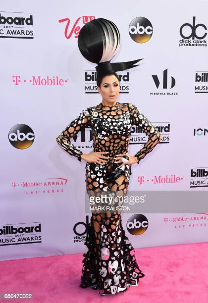 CORRECTION Recording artist Z LaLa arrives for the 2017 Billboard Music Awards at the TMobile Arena on May 21 2017 in Las Vegas Nevada / AFP PHOTO /...