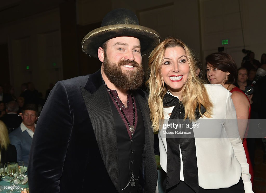 Recording artist Zac Brown and Sarah Blakely attend 25th Annual Captain Planet Foundation Gala at Intercontinental Buckhead on December 9, 2016 in Atlanta, Georgia.