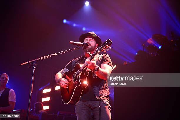 Recording artist Zac Brown of the Zac Brown Band performs during his 2015 concert tour opener at The Bridgestone Arena on May 1 2015 in Nashville...