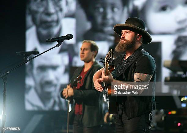 "Recording artist Zac Brown of Zac Brown Band performs onstage at A+E Networks ""Shining A Light"" concert at The Shrine Auditorium on November 18, 2015..."