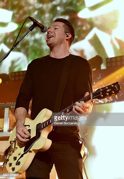 Recording artist Zach Filkins of music group OneRepublic performs onstage at 1013 KDWB's Jingle Ball 2014 presented by Sky Zone Indoor Trampoline...