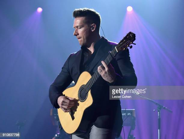 Recording artist Zach Filkins of OneRepublic performs onstage during MusiCares Person of the Year honoring Fleetwood Mac at Radio City Music Hall on...