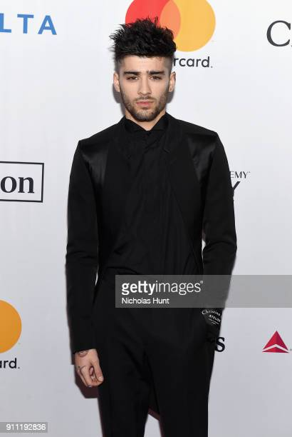 Recording artist Zayn Malik attends the Clive Davis and Recording Academy PreGRAMMY Gala and GRAMMY Salute to Industry Icons Honoring JayZ on January...