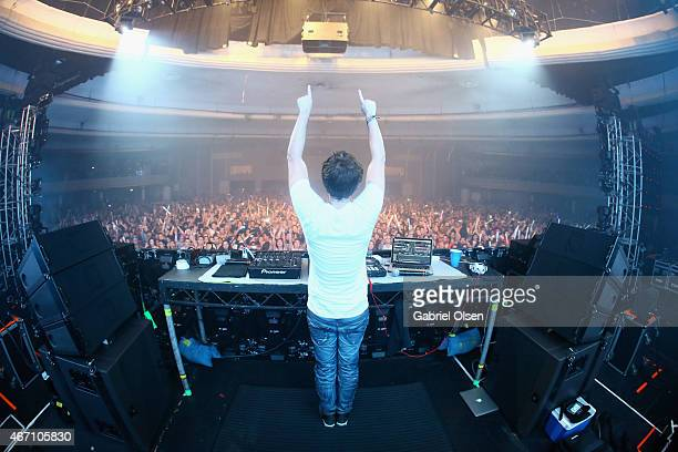 Recording artist Zedd performs at 971 AMP Radio Presents AMPLIFY 2015 at the Hollywood Palladium on March 20 2015 in Los Angeles California
