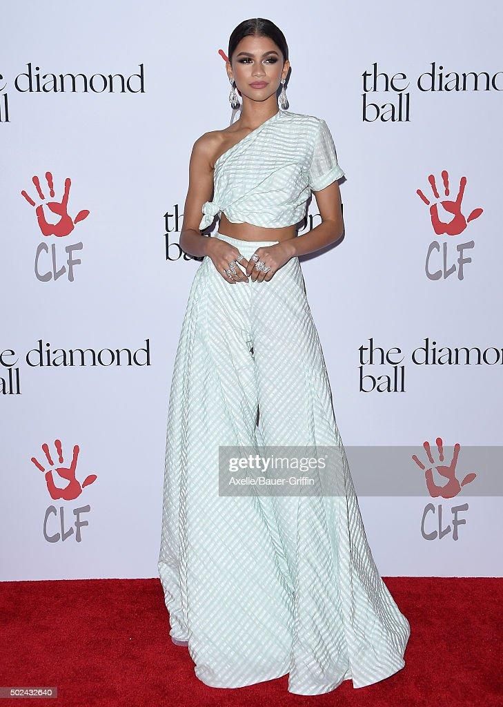 Recording artist Zendaya arrives at Rihanna and The Clara Lionel Foundation Host 2nd Annual Diamond Ball at The Barker Hanger on December 10, 2015 in Santa Monica, California.