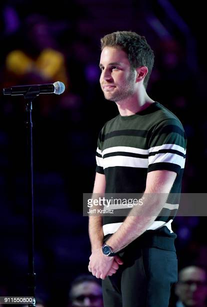 Recording artist/actor Ben Platt performs onstage during the 60th Annual GRAMMY Awards at Madison Square Garden on January 28 2018 in New York City