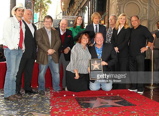Recording artist/actor Brad Paisley actor John Ratzenberger actor Patton Oswalt actor Don Rickles actress Emily Mortimer Mrs John Lasseter director...