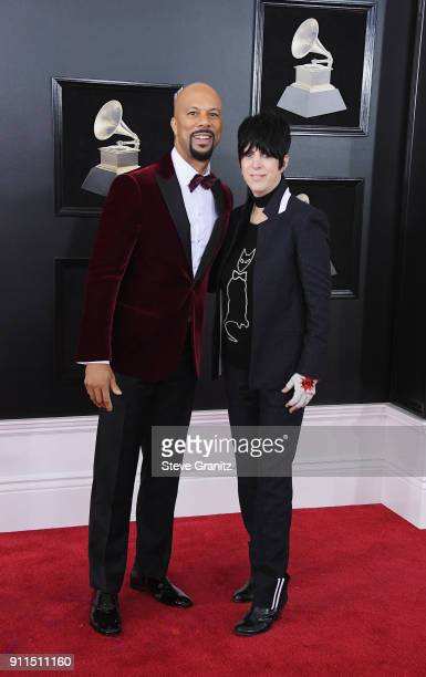 Recording artist/actor Common and songwriter Diane Warren attend the 60th Annual GRAMMY Awards at Madison Square Garden on January 28 2018 in New...