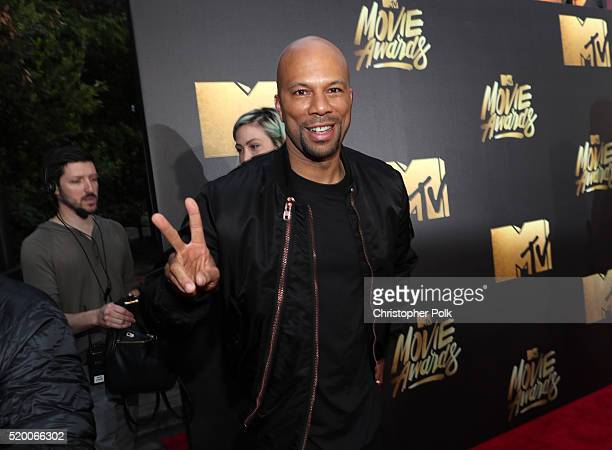 Recording artist/actor Common attends the 2016 MTV Movie Awards at Warner Bros Studios on April 9 2016 in Burbank California MTV Movie Awards airs...