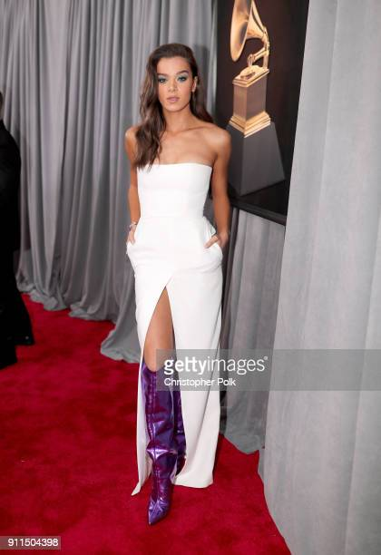 Recording artist/actor Hailee Steinfeld attends the 60th Annual GRAMMY Awards at Madison Square Garden on January 28 2018 in New York City
