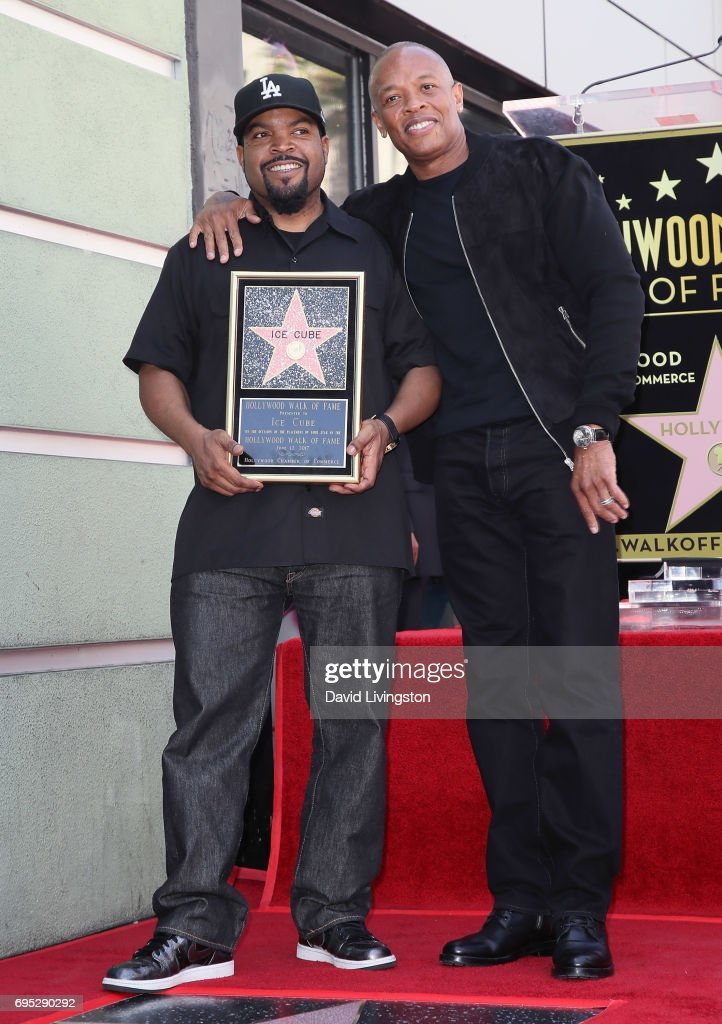 Ice Cube Honored With Star On The Hollywood Walk Of Fame : News Photo
