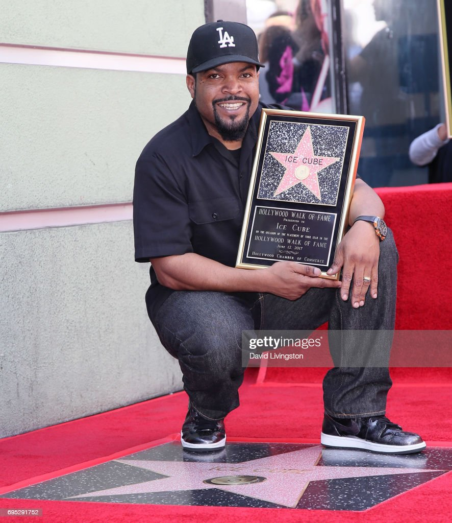 Recording artist/actor Ice Cube attends his being honored with a Star on the Hollywood Walk of Fame on June 12, 2017 in Hollywood, California.