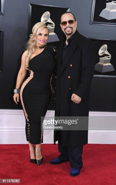 Recording artist/actor Ice-T and Coco Austin attend the 60th Annual GRAMMY Awards at Madison Square Garden on January 28, 2018 in New York City.