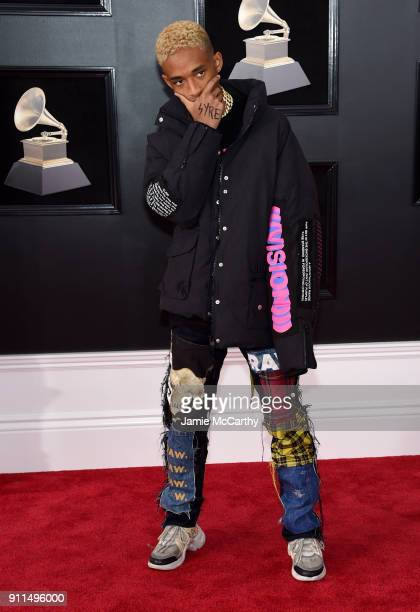 Recording artistactor Jaden Smith attends the 60th Annual GRAMMY Awards at Madison Square Garden on January 28 2018 in New York City