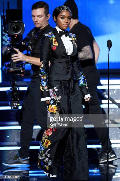 Recording artist/actor Janelle Monae walks onstage during the 60th Annual GRAMMY Awards at Madison Square Garden on January 28 2018 in New York City