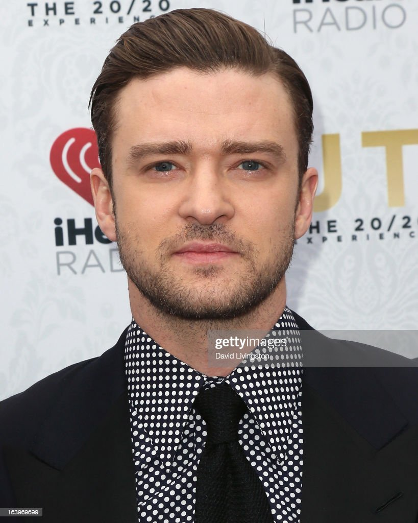 Recording artist/actor Justin Timberlake poses at the iHeartRadio '20/20' album release party with Justin Timberlake presented by Target at the El Rey Theatre on March 18, 2013 in Los Angeles, California.