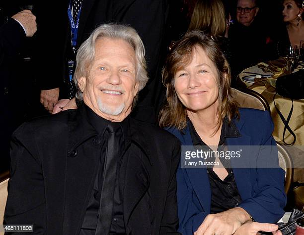 Recording artist/actor Kris Kristofferson and hair stylist Lisa Meyers attend the 56th annual GRAMMY Awards PreGRAMMY Gala and Salute to Industry...