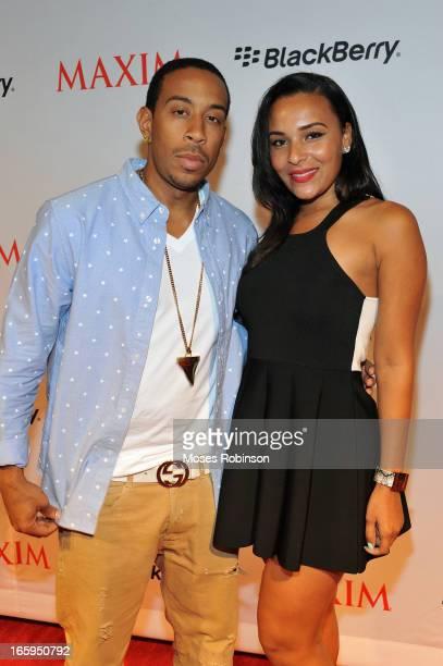 Recording Artist/Actor Ludacris and girlfriend Eudoxie Agnan attend Maxim Blackberry Madness on April 6 2013 in Atlanta Georgia