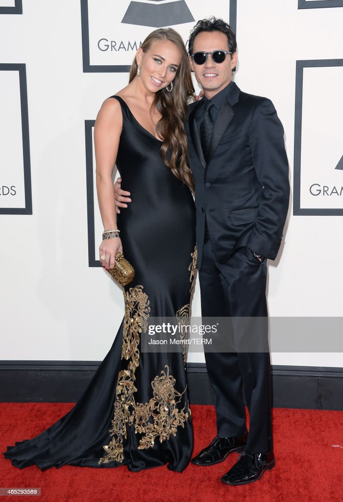 Recording artist/actor Marc Anthony (R) and Chloe Green attend the 56th GRAMMY Awards at Staples Center on January 26, 2014 in Los Angeles, California.