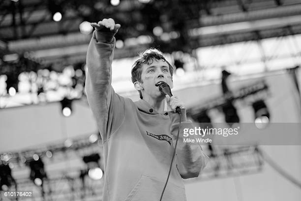 Recording artist/actor Troye Sivan performs onstage during the 2016 Daytime Village at the iHeartRadio Music Festival at the Las Vegas Village on...