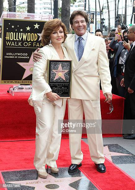 Recording artist/actress Angelica Maria and actor Fernando Allende attend a ceremony honoring Angelica Maria with a Star on The Hollywood Walk of...