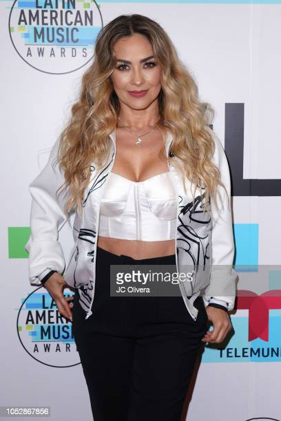 Recording artist/actress Aracely Arambula attends Telemundo's QA session about the contribution of latinas in the music world at Los Angeles Film...