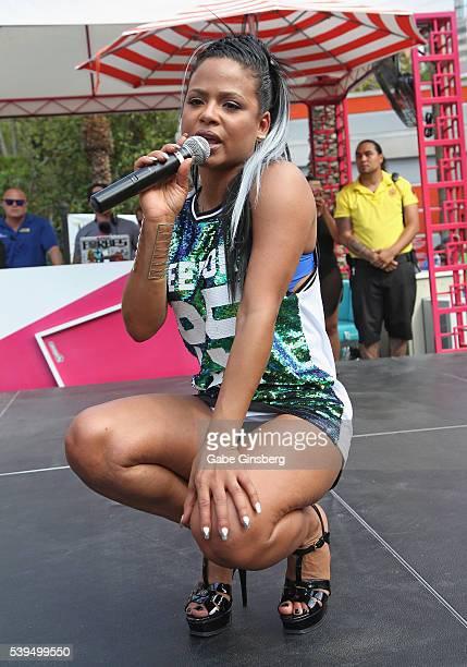 Recording artist/actress Christina Milian performs at the Go Pool at Flamingo Las Vegas on June 11, 2016 in Las Vegas, Nevada.