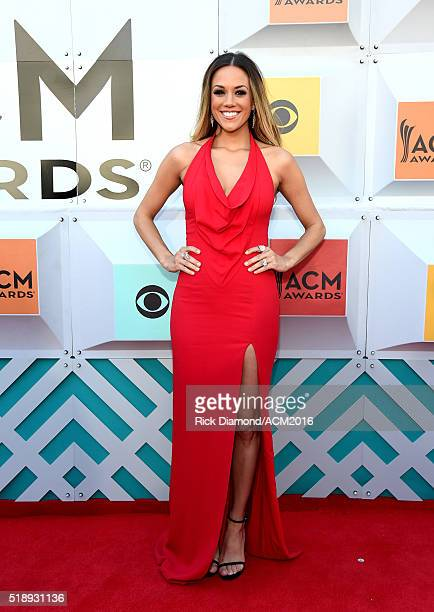 Recording artist/actress Jana Kramer attends the 51st Academy of Country Music Awards at MGM Grand Garden Arena on April 3 2016 in Las Vegas Nevada