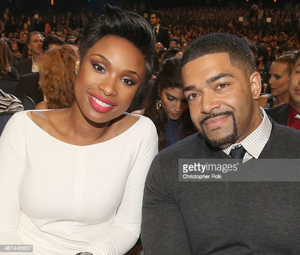 Recording artist/actress Jennifer Hudson and pro wrestler/actor David Otunga attend The 40th Annual People's Choice Awards at Nokia Theatre LA Live...