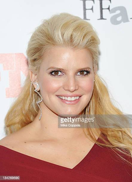 Recording artist/actress Jessica Simpson attends the 25th Annual Footwear News Achievement Awards at the Museum of Modern Art on November 29, 2011 in...