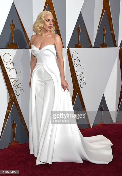 Recording artist/actress Lady Gaga attends the 88th Annual Academy Awards at Hollywood Highland Center on February 28 2016 in Hollywood California