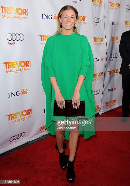 Recording artist/actress LeAnn Rimes arrives at The Trevor Project's 2011 Trevor Live at The Hollywood Palladium on December 4 2011 in Los Angeles...