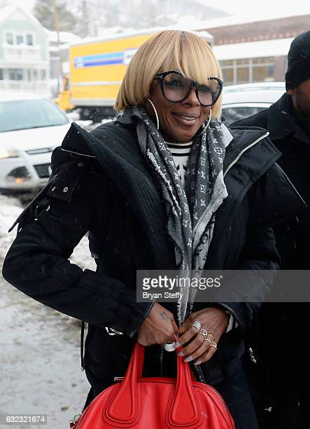 Recording artist/actress Mary J Blige is seen during the 2017 Sundance Film Festival on January 21 2017 in Park City Utah