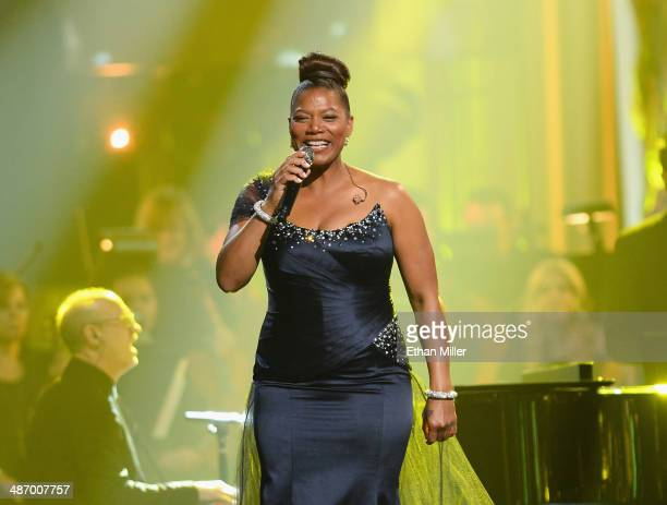 Recording artist/actress Queen Latifah performs onstage during the 18th annual Keep Memory Alive Power of Love Gala benefit for the Cleveland Clinic...